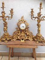 click for more details bronzen clock set